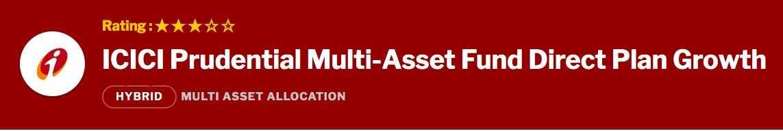 ICICI Prudential Multi Asset Fund