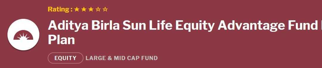 Aditya Birla Sun Life Equity Advantage Fund