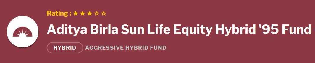 Aditya Birla Sun Life Equity Hybrid 95 Fund